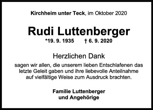 Danksagung Rudi Luttenberger <br><p style=