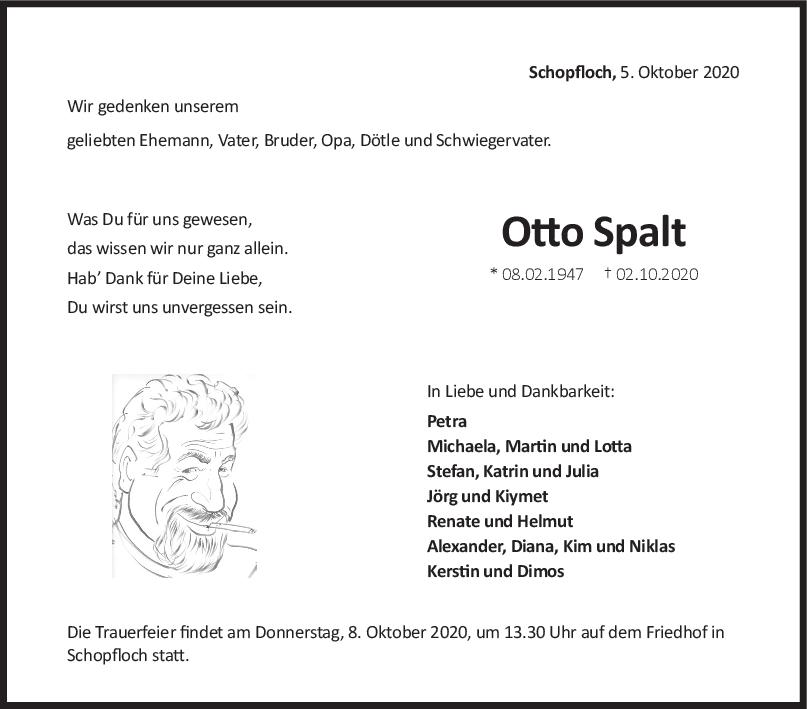 Trauer Otto Spalt <br><p style=