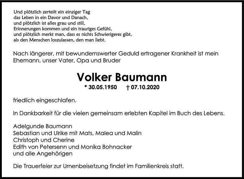 Trauer Volker Baumann <br><p style=