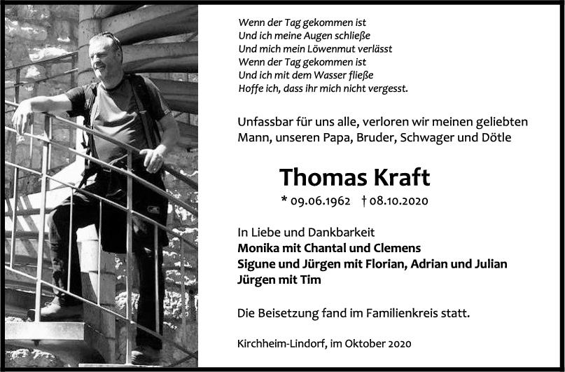 Trauer Thomas Kraft <br><p style=