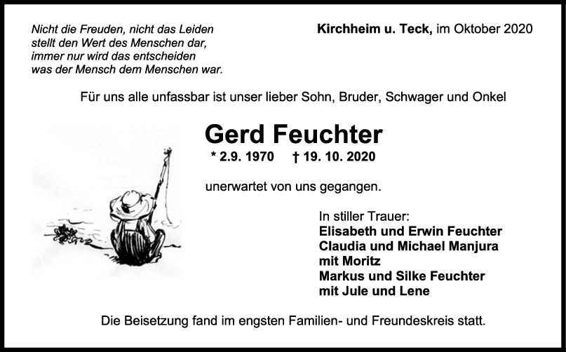 Trauer Gerd Feuchter <br><p style=