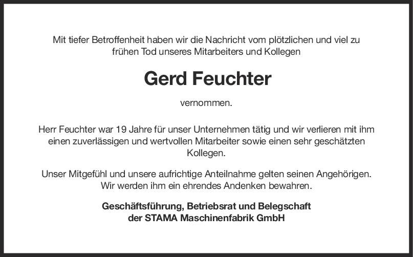 Nachruf Gerd Feuchter <br><p style=
