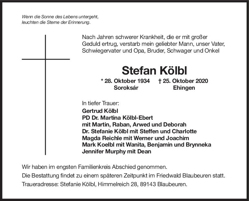 Trauer Stefan Kölbl <br><p style=