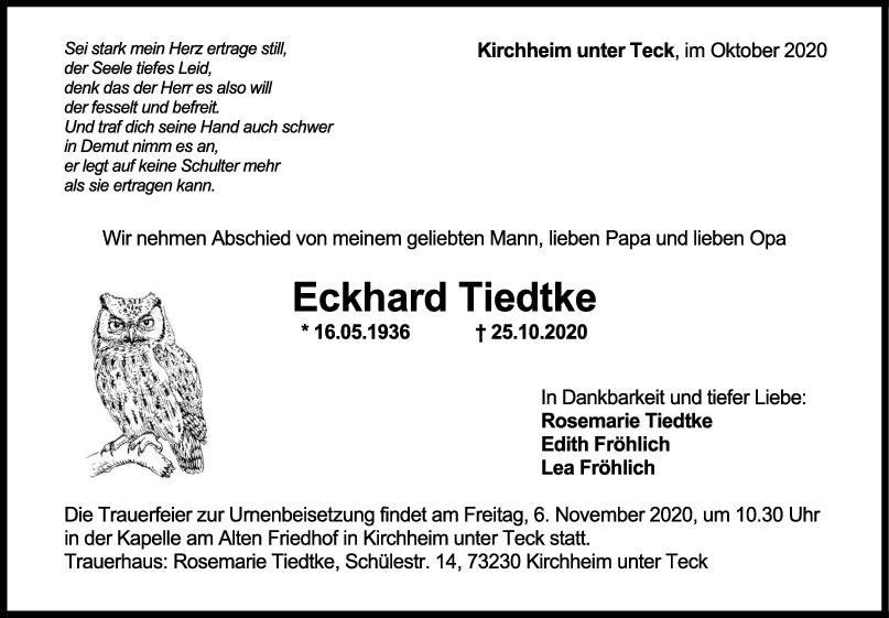 Trauer Eckhard Tiedtke <br><p style=
