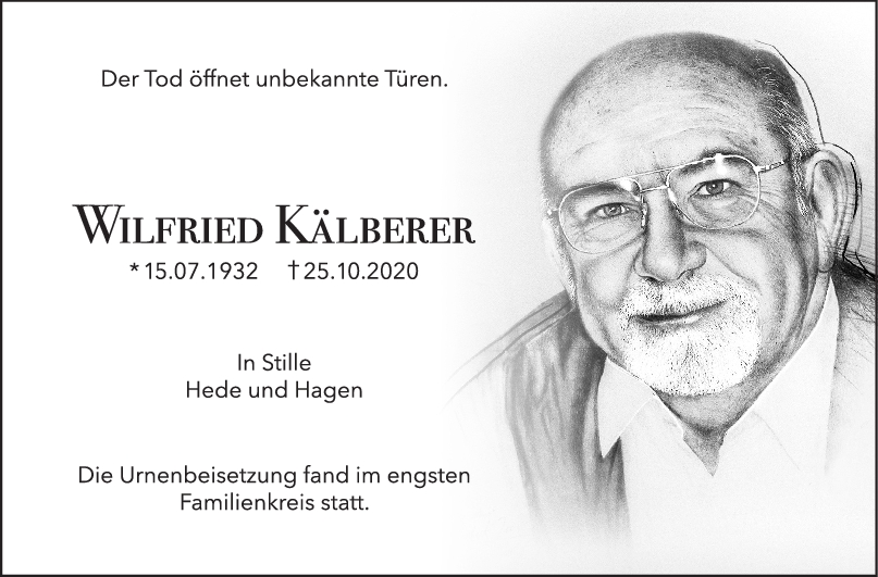 Trauer Wilfried Kälberer <br><p style=