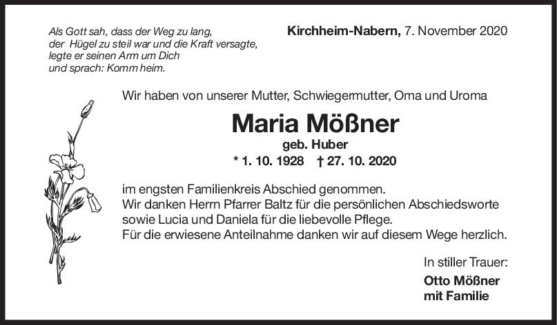 Trauer Maria Mößner <br><p style=