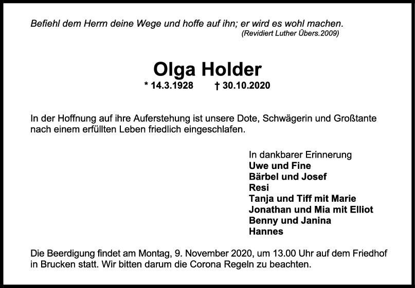 Trauer Holga Holder <br><p style=