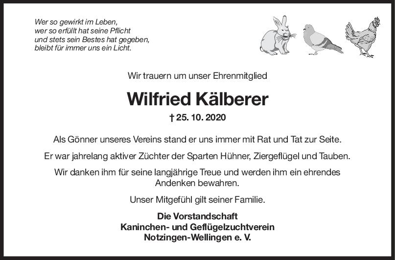 Nachruf Wilfried Kälberer <br><p style=