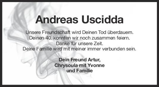 Nachruf Andreas Uscidda <br><p style=
