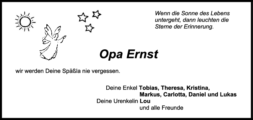 Nachruf Opa Ernst Hepperle <br><p style=