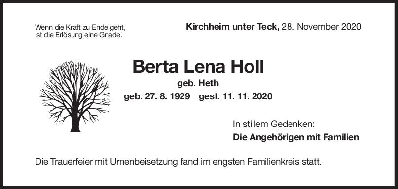 Trauer Berta Holl <br><p style=