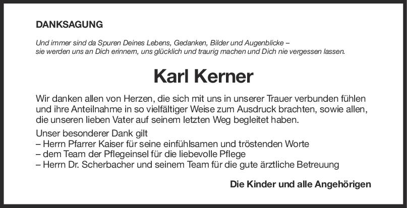 Danksagung Karl Kerner <br><p style=