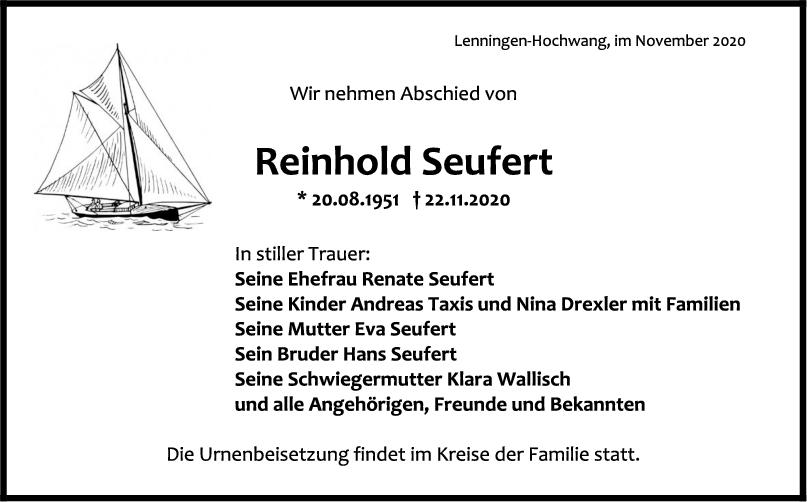Trauer Reinhold Seufert <br><p style=