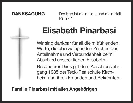 Danksagung Elisabeth Pinarbasi <br><p style=