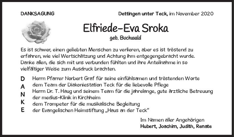 Trauer Elfriede-Eva Sroka <br><p style=