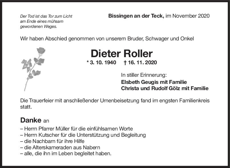 Trauer Dieter Roller <br><p style=