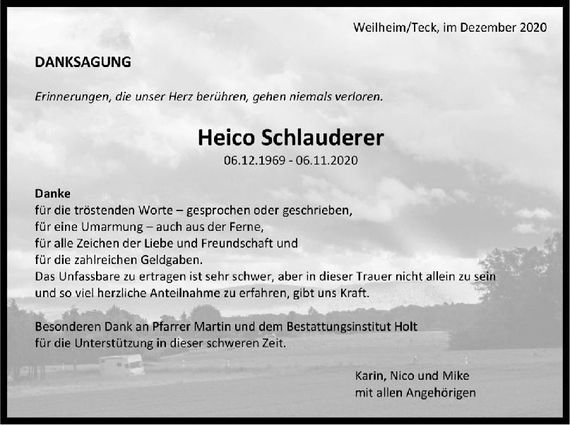 Danksagung Heico Schlauderer <br><p style=
