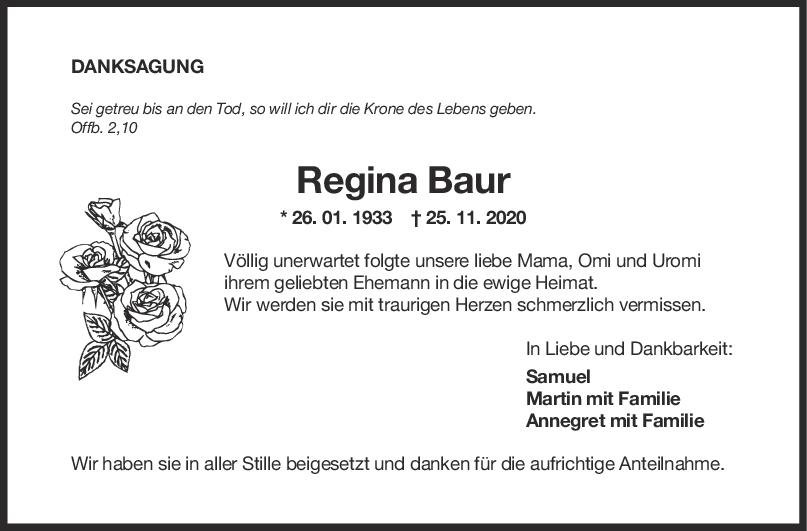Danksagung Regina Baur <br><p style=