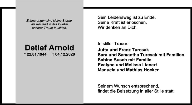 Trauer Detlef Arnold <br><p style=
