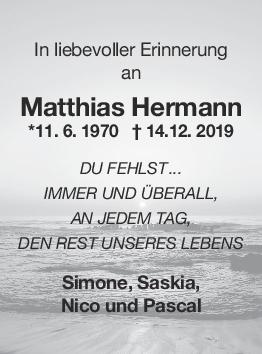 Nachruf Matthias Hermann <br><p style=