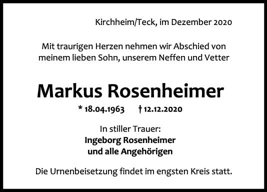 Trauer Markus Rosenheimer <br><p style=