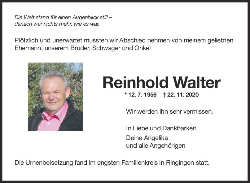 Trauer Reinhold Walter <br><p style=