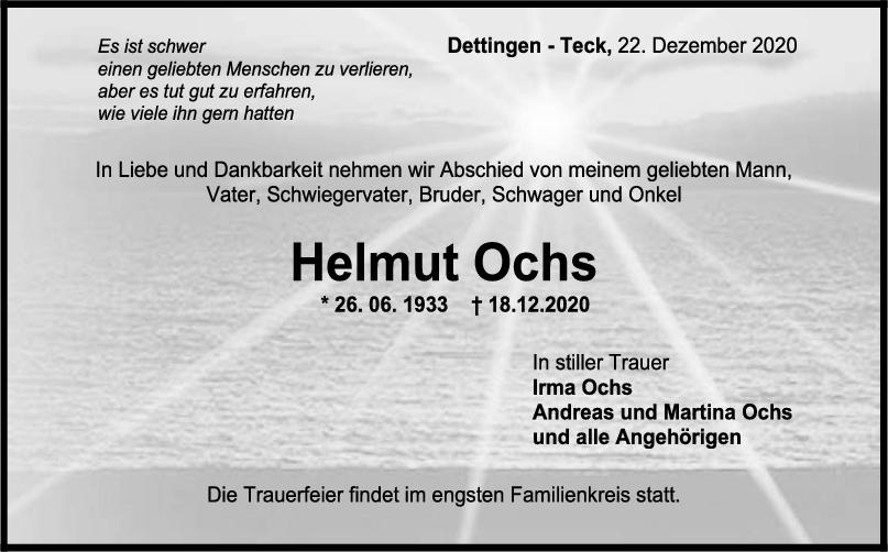 Trauer Helmut Ochs <br><p style=
