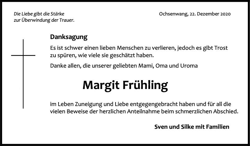 Danksagung Margit Frühling <br><p style=