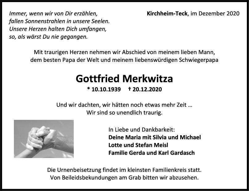Trauer Gottfried Merkwitza <br><p style=