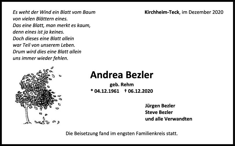 Trauer Andrea Bezler <br><p style=