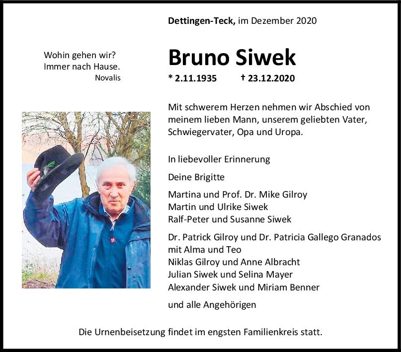 Trauer Bruno Siwek <br><p style=