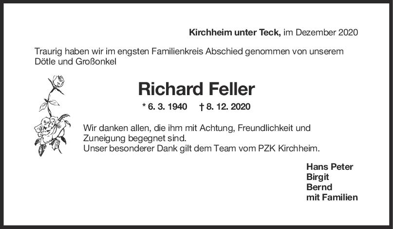 Trauer Richard Feller <br><p style=