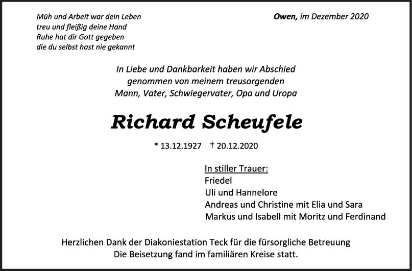 Trauer Richard Scheufele <br><p style=