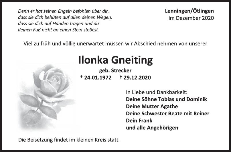Trauer Ilonka Gneiting <br><p style=
