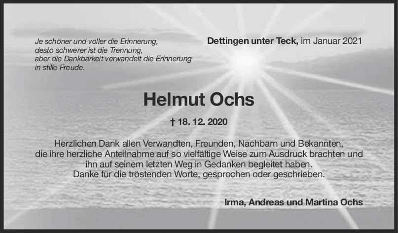 Danksagung Helmut Ochs <br><p style=