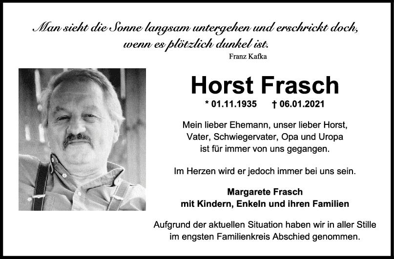 Trauer Horst Frasch <br><p style=