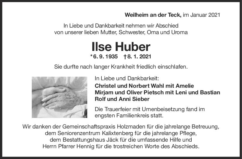Trau Ilse Huber <br><p style=