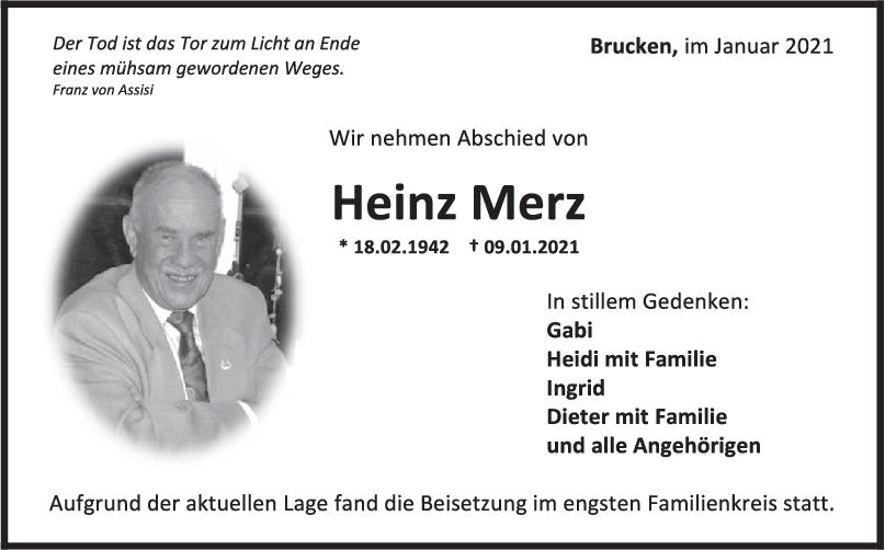 Trauer Heinz Merz <br><p style=