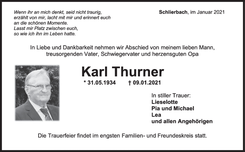 Trauer Karl Thurner <br><p style=