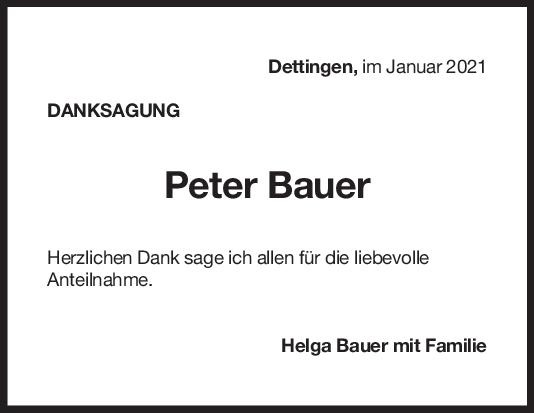 Danksagung Peter Bauer <br><p style=