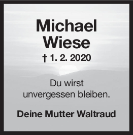 Nachruf Michael Wiese <br><p style=