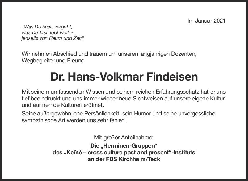 Trauer Hans-Volkmar <br><p style=