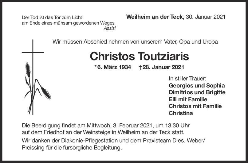 Trauer Christos Toutziaris <br><p style=