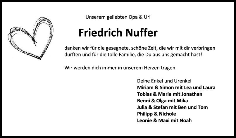 Trauer Friedrich Nuffer <br><p style=