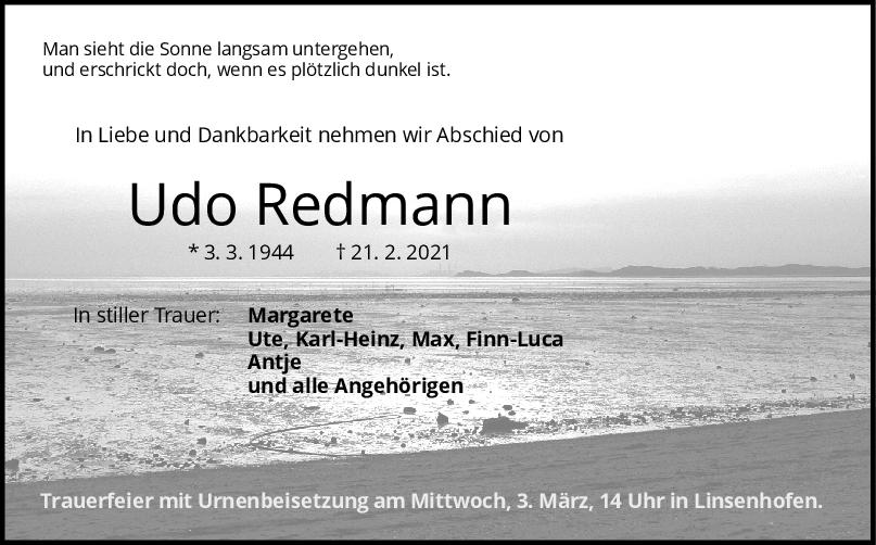 Trauer Udo Rebmann <br><p style=