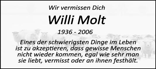 Nachruf Willi <br><p style=