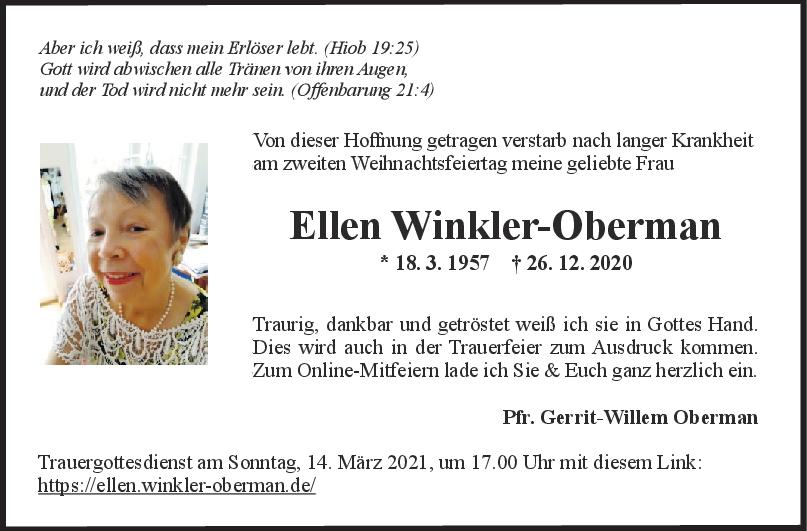 Trauer Ellen Winkler-Obermann <br><p style=