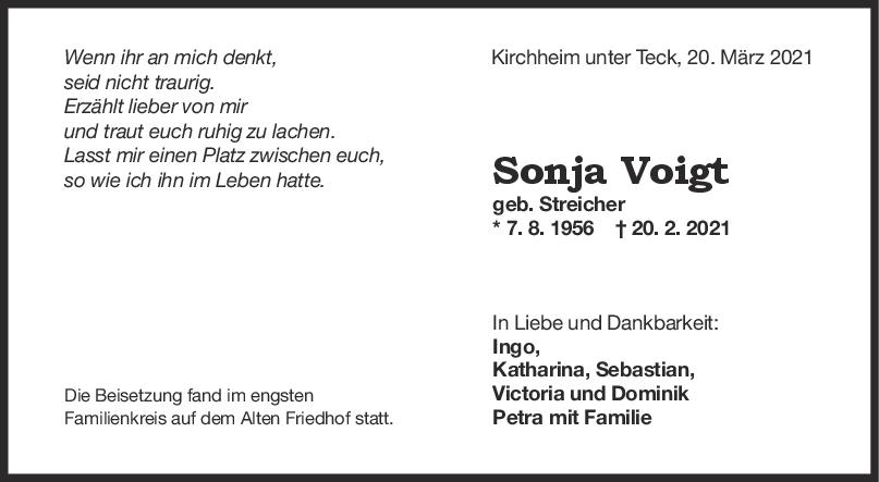 Trauer Sonja Voigt <br><p style=