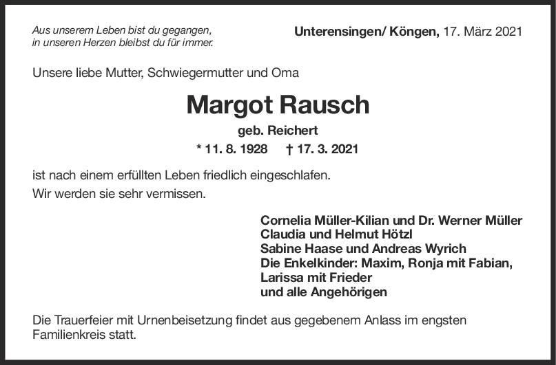 Trauer Margot Rausch <br><p style=