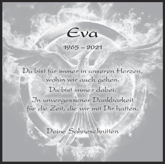 Nachruf Eva <br><p style=